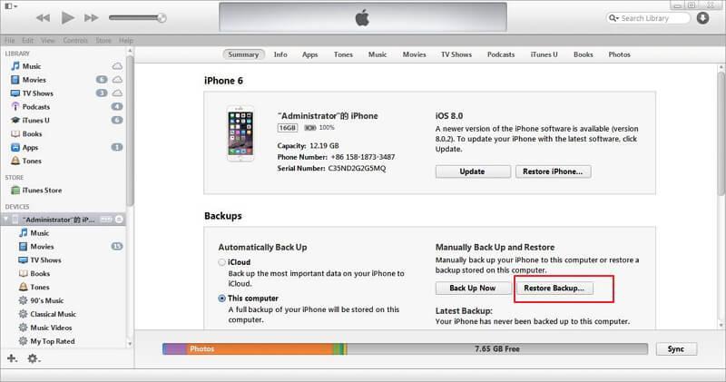 Restaurar la copia de seguridad de su iPhone antiguo
