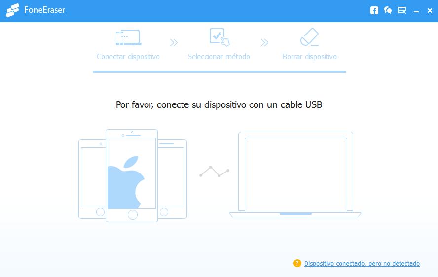 Abrir FoneEraser - borrar datos iPhone