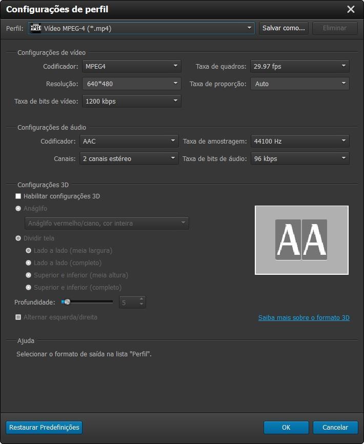 Ajustar los parámetros de conversión de sus videos