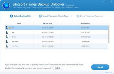 Jihosoft iTunes Copia de seguridad Unlocker