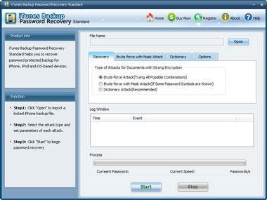 SmartKey iTunes Copia de seguridad Password Recovery