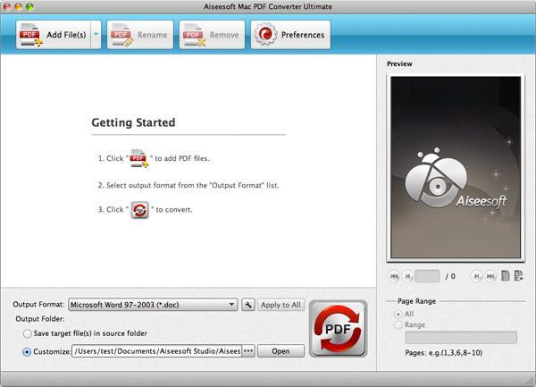Importar sus archivos PDF para el programa