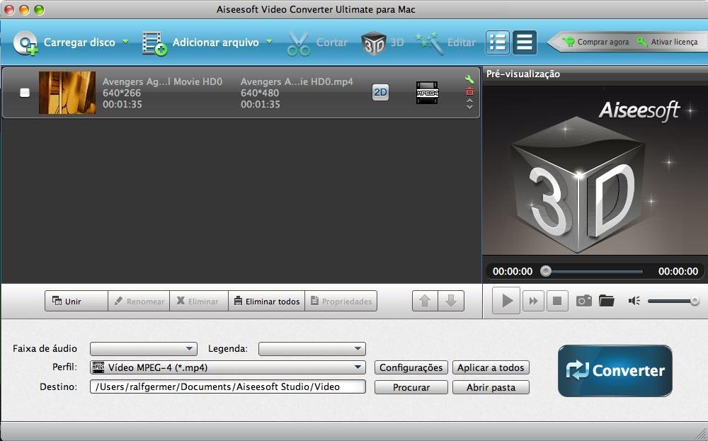 Instalar y abrir el Video Converter Ultimate para Mac