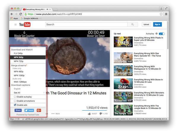 Descargar videos del YouTube con el Chrome