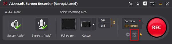 Configurar el tiempo de término de su grabación