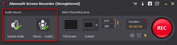 Seleccionar el área de captura del video