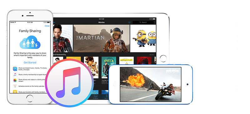 Librería del iTunes y para compartir archivos