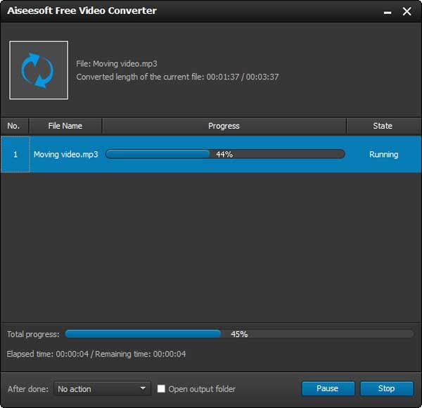 Iniciar la conversión de sus archivos a MP3