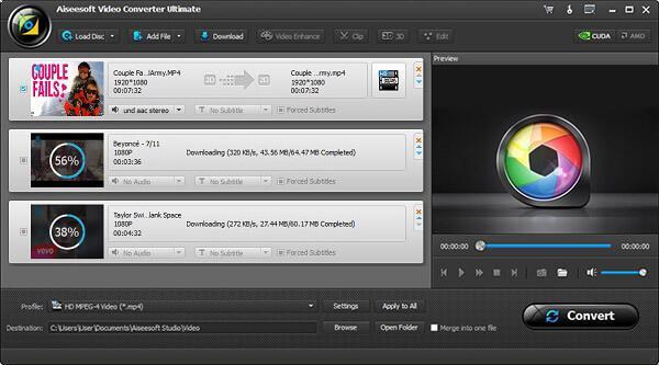 Descargar varios videos simultáneamente
