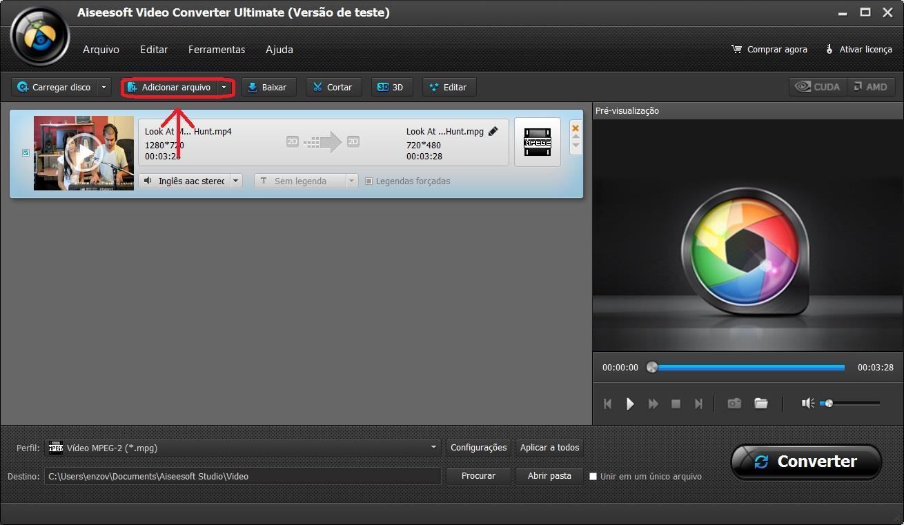 Importar sus archivos para el WebM programa