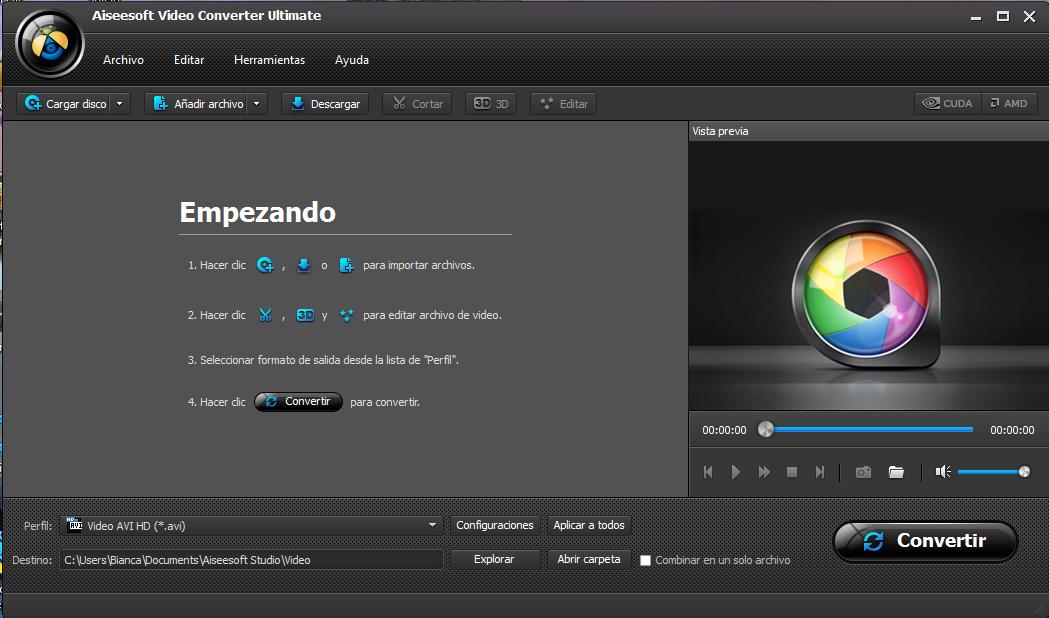 Abrir el programa de conversión de video Video Converter Ultimate