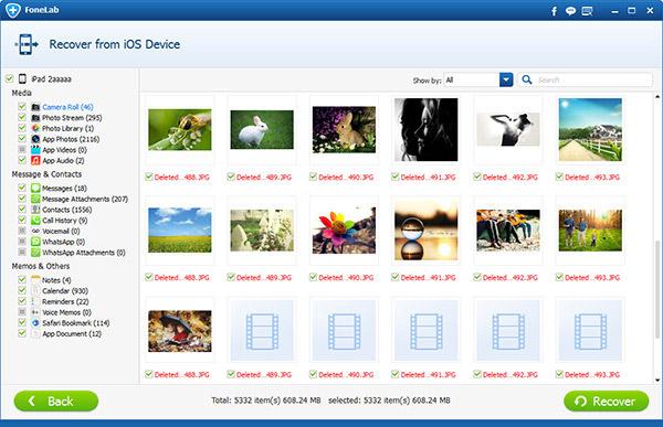 Passo3 Recuperar fotos perdidas FoneLab