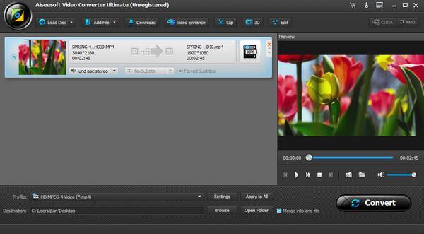Importar sus archivos de vídeo que desea girar