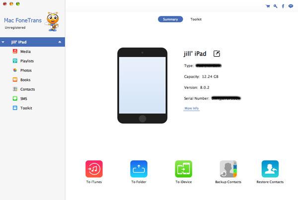 Conectar su iPad al Mac