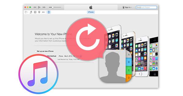 Restaurar contatos sincronização iTunes FoneLab