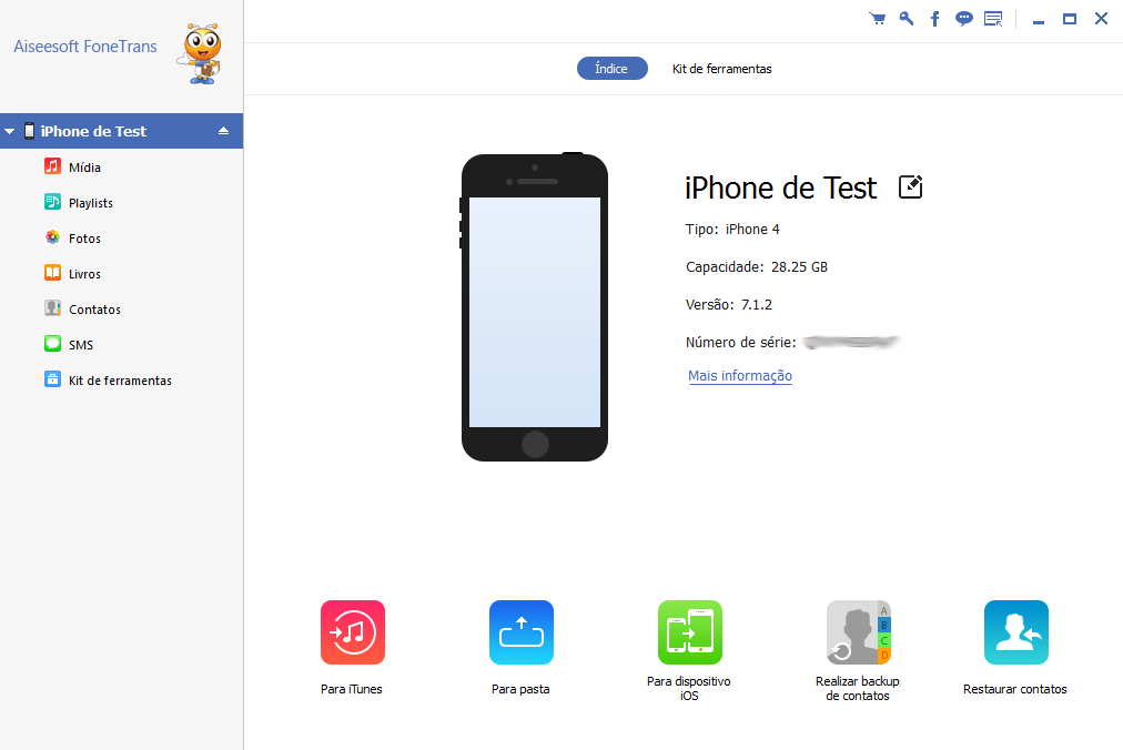 Troca de iPhone: Conecte tanto o iPhone antigo como o iPhone novo com um cabo USB e espere que o programa os identifique