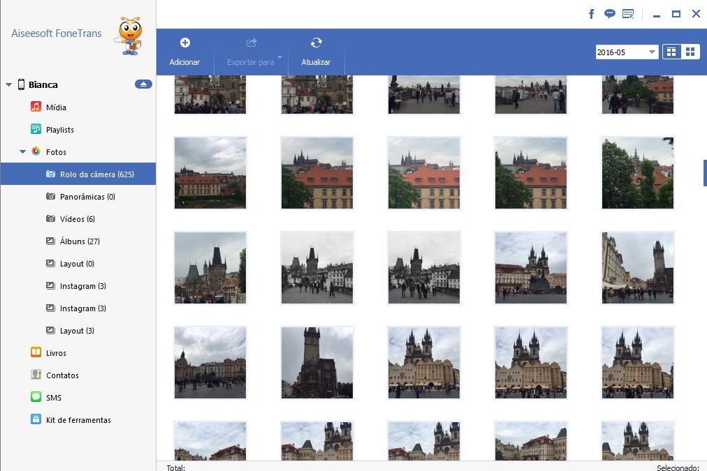 Selecione as fotos, contatos e arquivos que quer transferir do iPhone velho para o novo