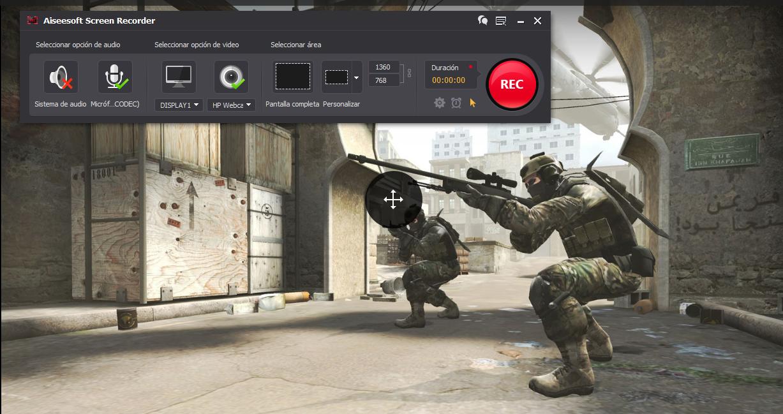 Comenzar a grabar gameplay con el Aiseesoft Screen Recorder