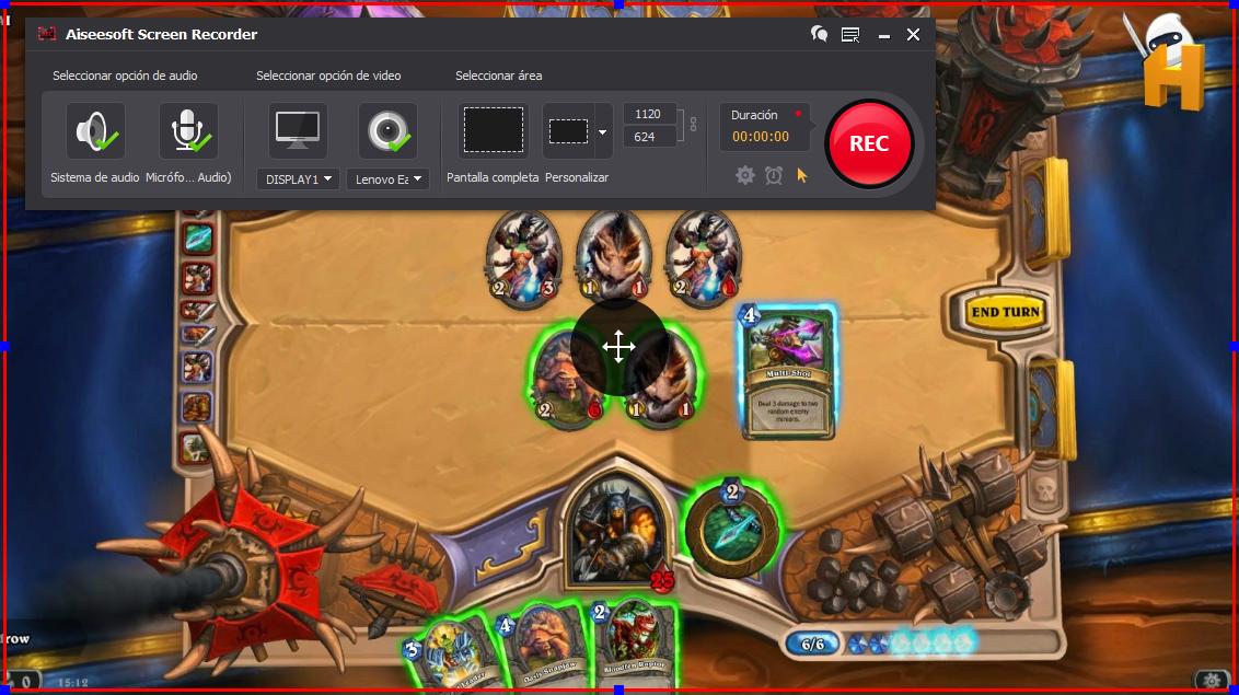 Capturar pantalla del PC para grabar gameplay