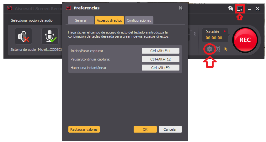 Accesos directos para grabar la pantalla del PC