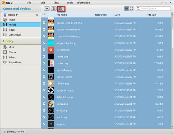 Passo 2 Backup Samsung Kies FoneCopy