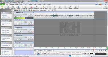 MixPad Multitrack Mejores grabadores de música