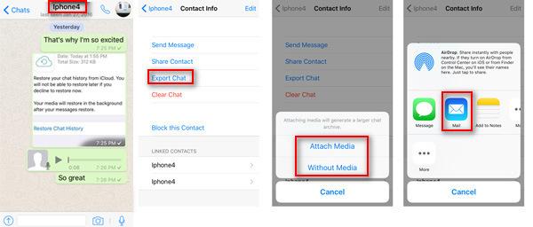 E-mail Backup Mensagens Whatsapp  FoneLab