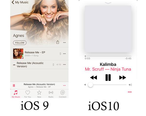 Comparação Apple Music