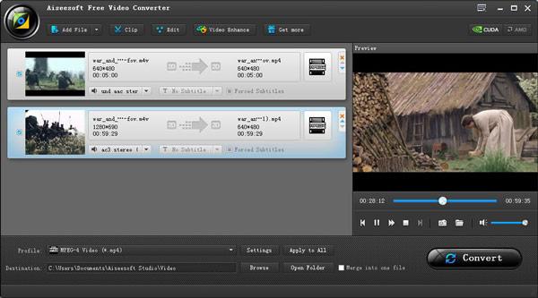 Conversão de vídeos M4V AiseeSoft Blu-Ray Player