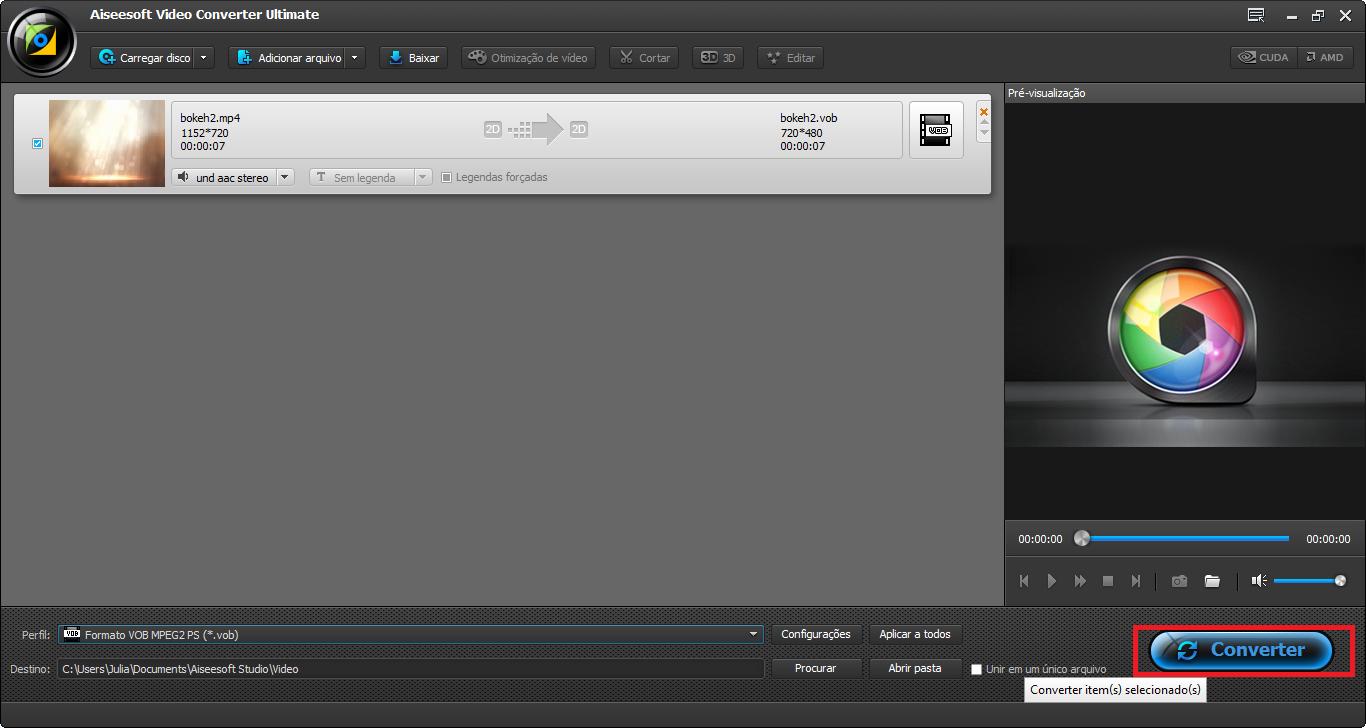 Finalizar la conversión de MPEG a AMV