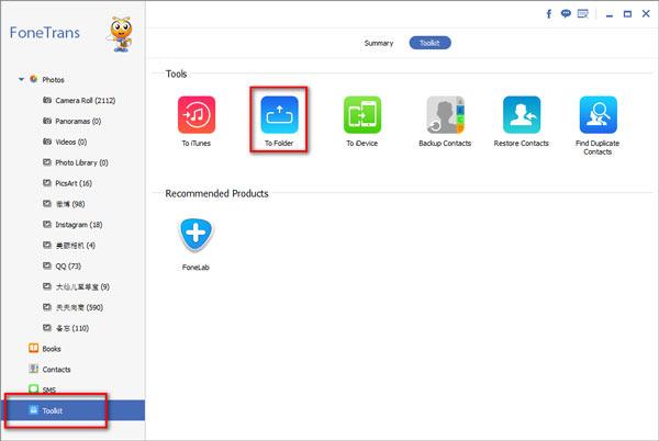 Copia de seguridad iPhone HD Externo Toolkit FoneTrans