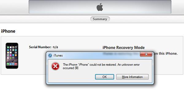 Corregir error 9 iTunes - FoneLab