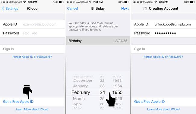 Resetar cloud iPhone - mudar conta iCloud