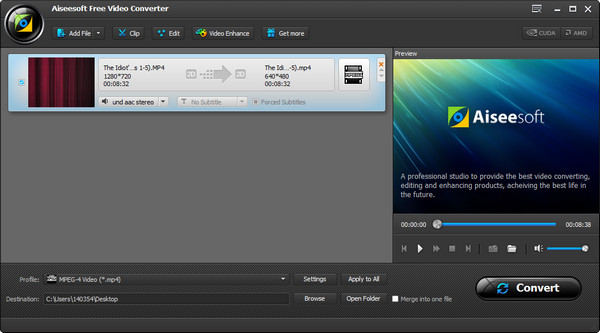 Paso 2 Convertir video Vimeo MP3 Video Converter Ultimate