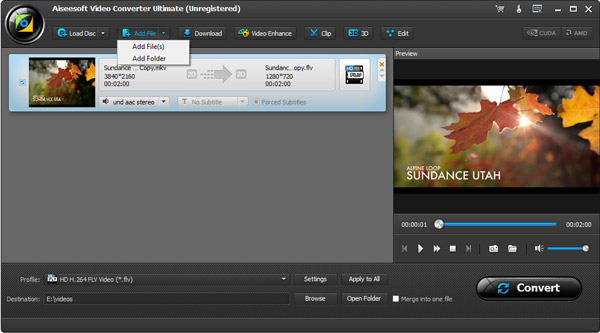 Paso 2 Importar videos y DVDs iTunes Video Converter Ultimate