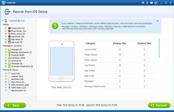 Paso 3 Olvidó contraseña iPad FoneLab