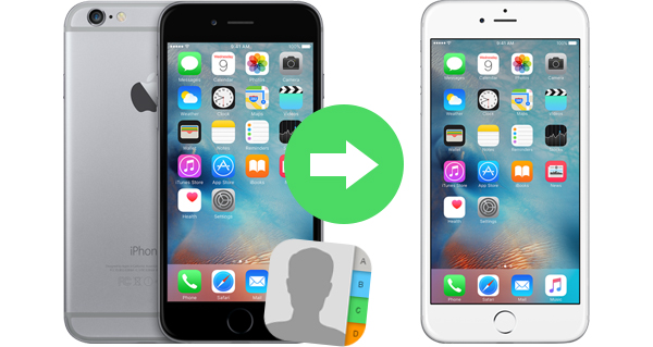 Passar contatos de iPhone para outro FoneTrans