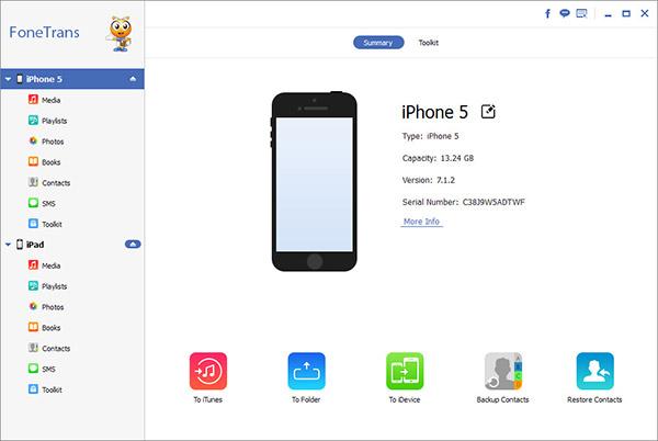 Passo 1 Passar fotos iPhone para iPad