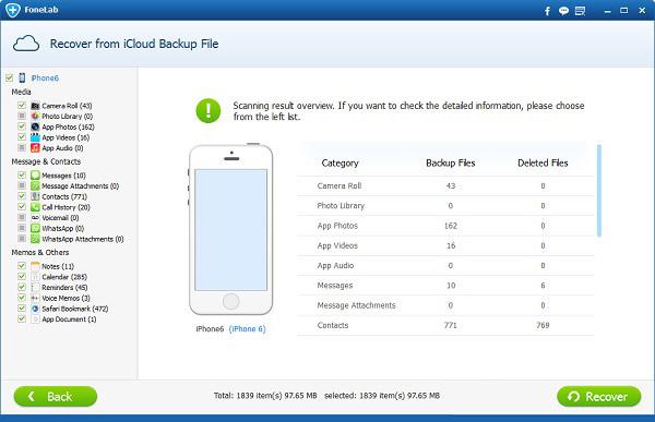 Recuperar arquivos iCloud recuperar