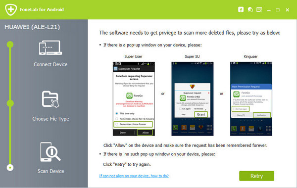 Recuperar mensagens Snapchat FoneLab Android