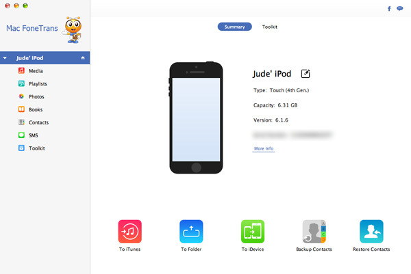 Passo2 transferir músicas iPod para Mac