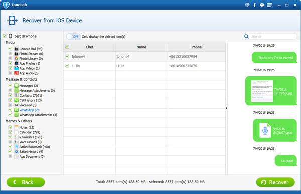 Passo3 FoneLab Backup Mensagens Whatsapp  FoneLab