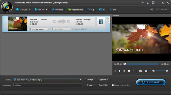 Passo4 Importar vídeos e DVDs iTunes Video Converter Ultimate