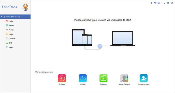 Programa transferência iOS FoneTrans