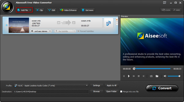 AiseeSoft Video Converter Paso 1
