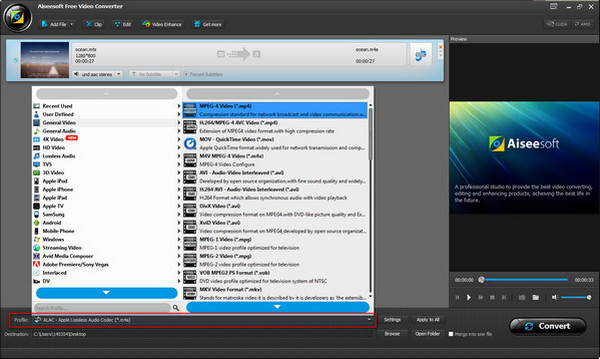 AiseeSoft Video  Converter Paso 2