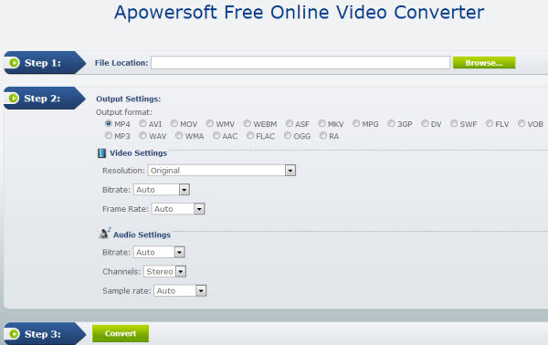 Converter videos Apowersoft Online