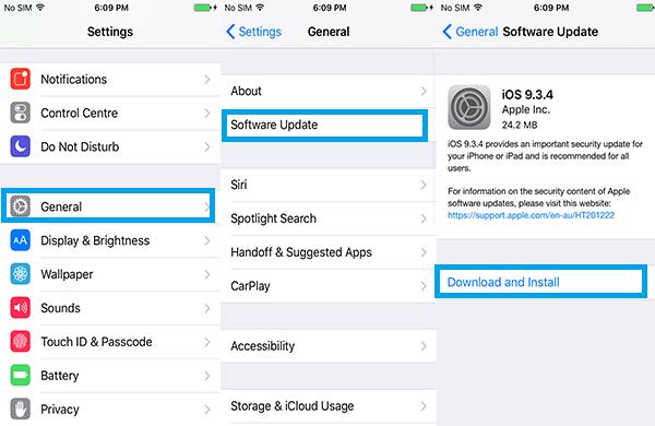 Atualizar iPhone sem-fio