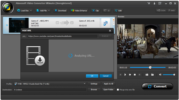 Converter audiobooks Video Converter Ultimate