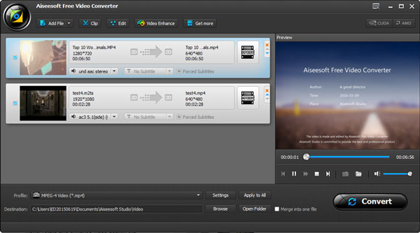 Converter FLV para MP4 - Aiseesoft Video Converter Ultimate